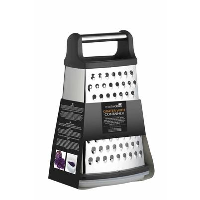 MasterClass Stainless Steel Four Sided Box Grater With Collecting Box