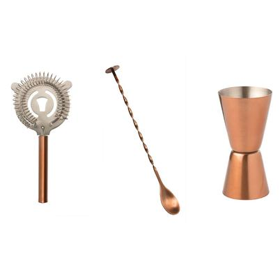 Epicurean Classic Cocktail Kit 3pc Copper Plated