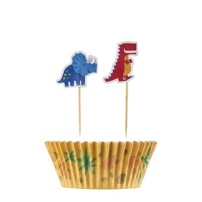 Mason Cash Dinosaur Set 48 Cupcake Cases & Toppers