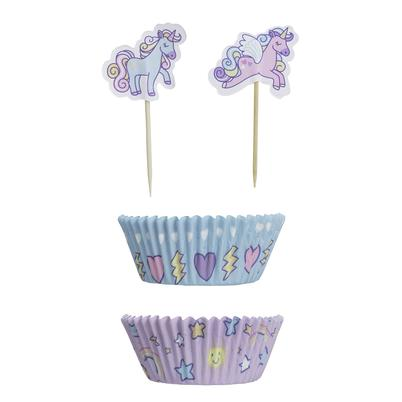 Mason Cash Unicorn Set 48 Cupcake Cases & Toppers