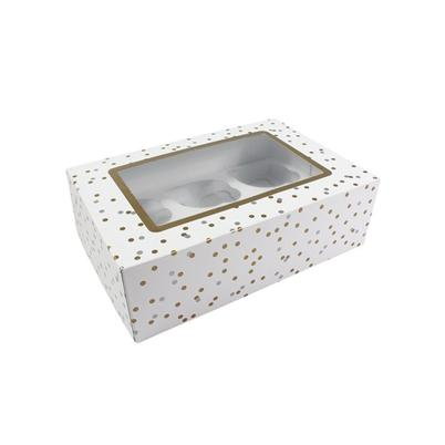 Culpitt Metallic Spot Box for 6 or 12 Cupcakes