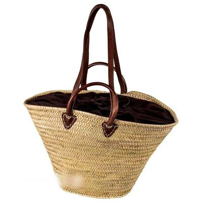 Adam Schmidt Beach Basket Brown Lining