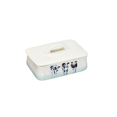 Apple Farm Cows Butter Dish