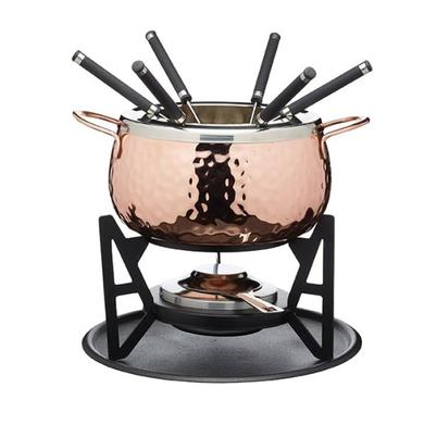 Artesa Copper Effect Fondue Set