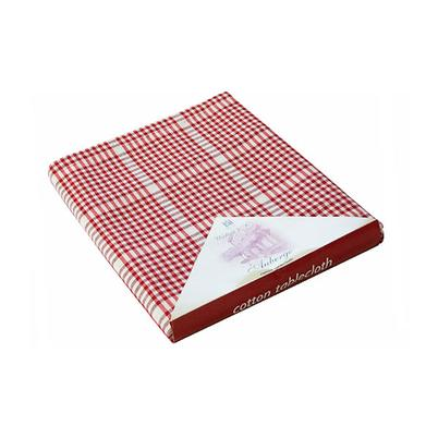 Walton & Co Auberge Tablecloth Red Gingham 130 x 230cm