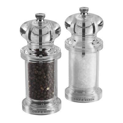 Cole & Mason Precision 505 Capstan Salt & Pepper Mill Gift Set Acrylic 14 cm