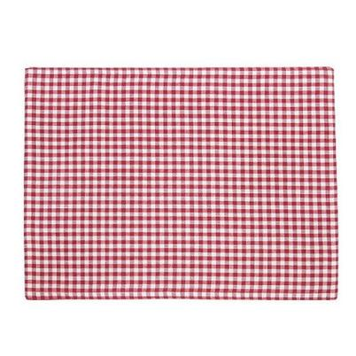 Walton & Co Auberge 2pc Placemats Red Gingham, Red Reverse