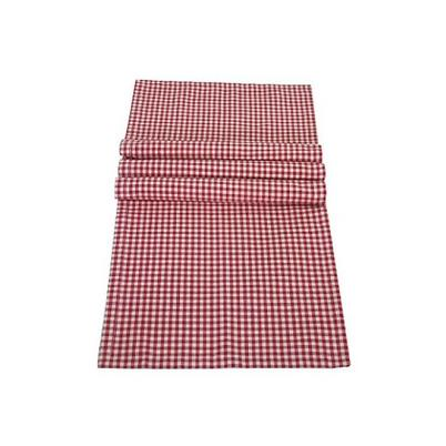 Walton & Co Auberge Table Runner Red Gingham 40 x 140cm