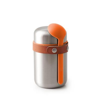 Black and Blum Stainless Steel Food Flask Orange