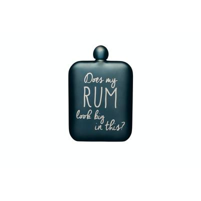 BarCraft Hip Flask 'Rum' Blue