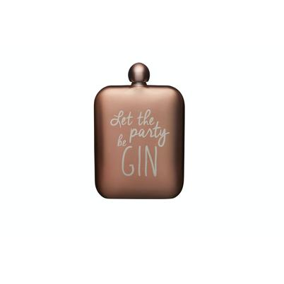 BarCraft Hip Flask 'Gin' Pink