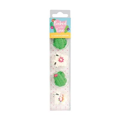 Baked With Love Sugar Decorations Llama & Cactus 12pc