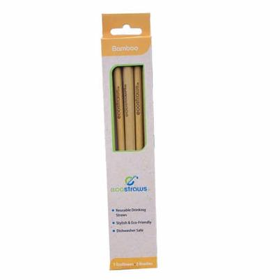 EcoStraws Bamboo Straws & Brushes Set