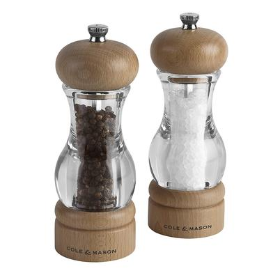 Cole & Mason Precision 105 Acrylic & Beech Salt & Pepper Mill Gift Set