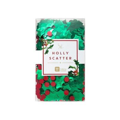 Christmas Holly Scatter Confetti