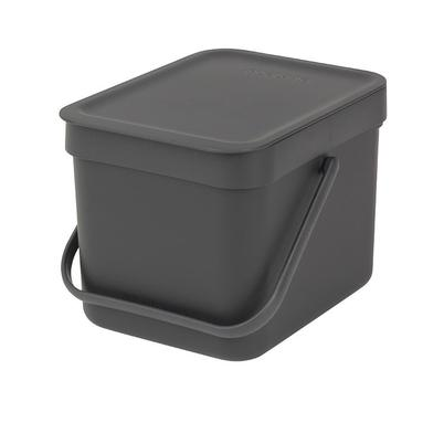Brabantia Sort & Go Waste Bin, 6L - Grey