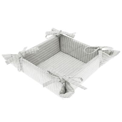Walton & Co County Ticking Suffolk Grey Bread Basket