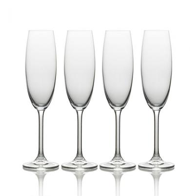 Mikasa Julie Set of 4 Champagne Flute Glasses