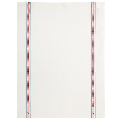 Charvet Editions Tea Towel Vichy Coq Raw Cotton