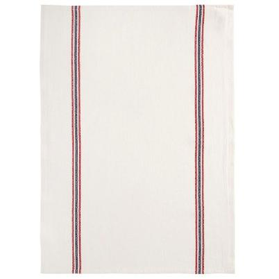Charvet Editions Linen Tea Towel White, Red & Blue Stripes