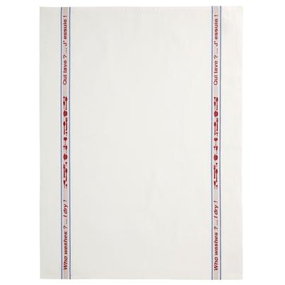 Charvet Editions Tea Towel Who Wash Raw Cotton