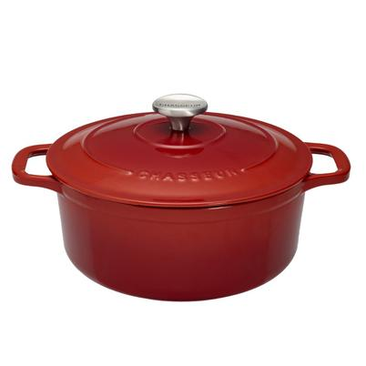 Chasseur Cast Iron Casserole 24cm Chilli Red