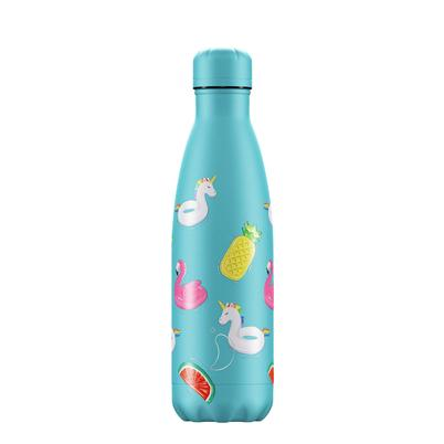 Chilly's 500ml Stainless Steel Water Bottle Pool Party Day