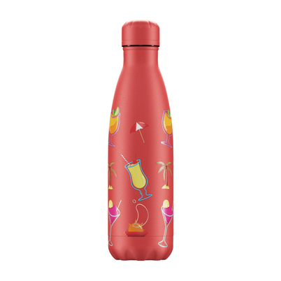 Chilly's 500ml Stainless Steel Water Bottle Pool Party Sundown
