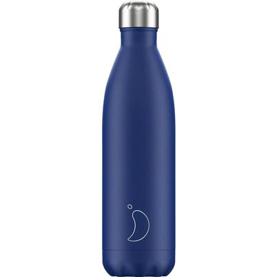 Chilly's 750ml Stainless Steel Water Bottle Matte Blue