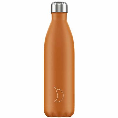 Chilly's 750ml Stainless Steel Water Bottle Matte Burnt Orange