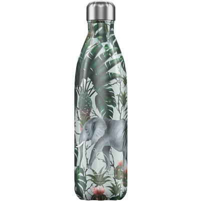 Chilly's 750ml Stainless Steel Water Bottle Tropical Elephant