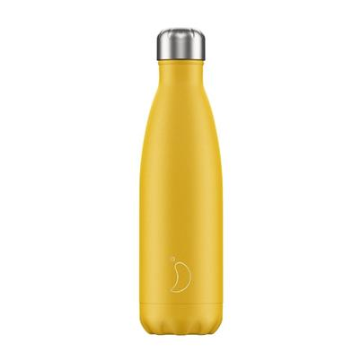 Chilly's 500ml Stainless Steel Water Bottle Matte - Burnt Yellow