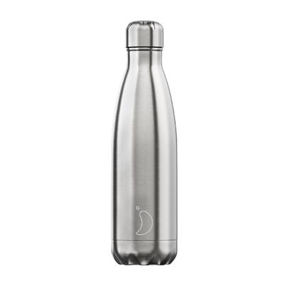 Chilly's 500ml Stainless Steel Water Bottle -  Original Silver