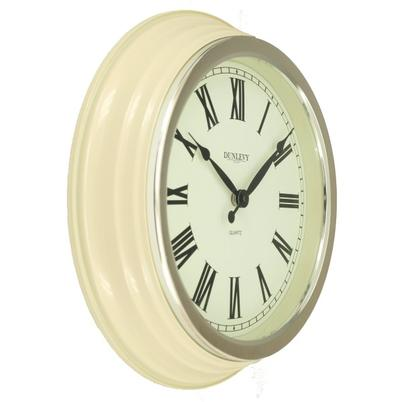 Dunlevy 14 Inch Cream Classic Wall Clock