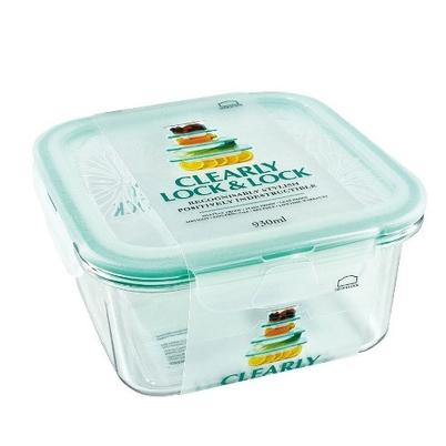 Lock & Lock Clearly Square Container 930ml
