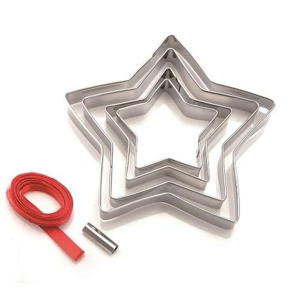Eddingtons 5pc Star Cookie Cutters & Tree Decoration Kit