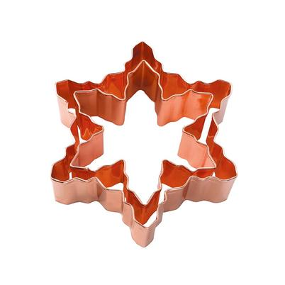 Eddingtons Copper Snowflake Cutters 2pc