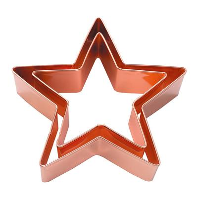 Eddingtons Copper Star Cutters 2pc