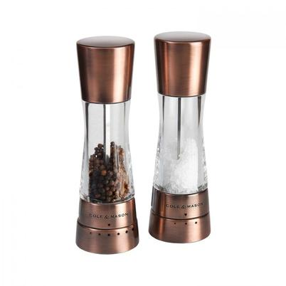 SPECIAL OFFER - Cole & Mason Derwent Copper Salt & Pepper Mill Set 190mm
