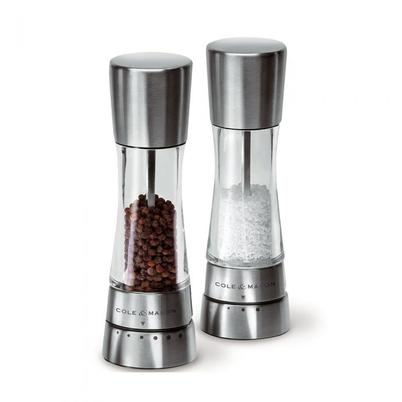 SPECIAL OFFER - Cole & Mason Derwent Stainless Steel Salt & Pepper Mill Set 190mm