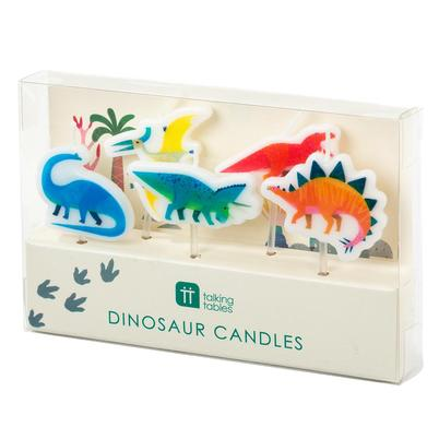 Talking Tables 5 Party Dinosaur Candles