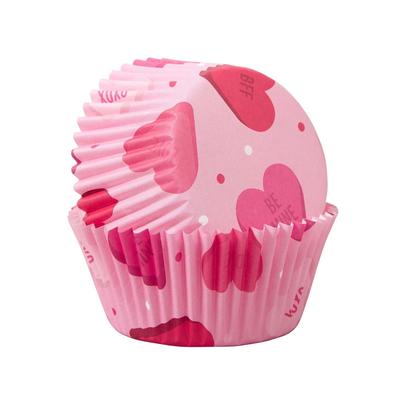 Wilton Standard Baking Cases Hearts 75pc