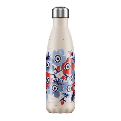 Chilly's 500ml Stainless Steel Water Bottle Emma Bridgewater - Blue Anemone
