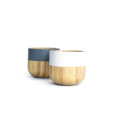 Pebbly Bamboo Egg Cups Set of 2