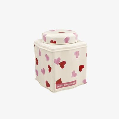 Emma Bridgewater Pink Hearts Tea Caddy with Dome Lid