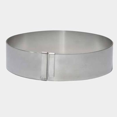 de Buyer Spring Stainless Steel Expandable Pastry Ring