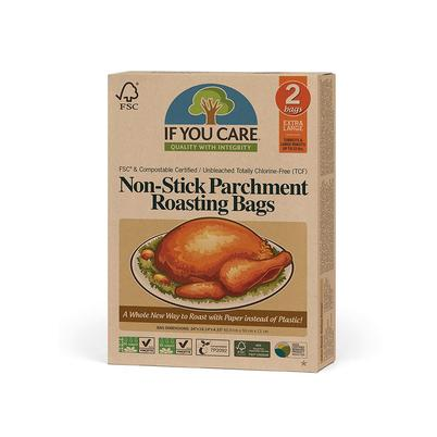 IF YOU CARE Unbleached Non-Stick Parchment Roasting Bags XL