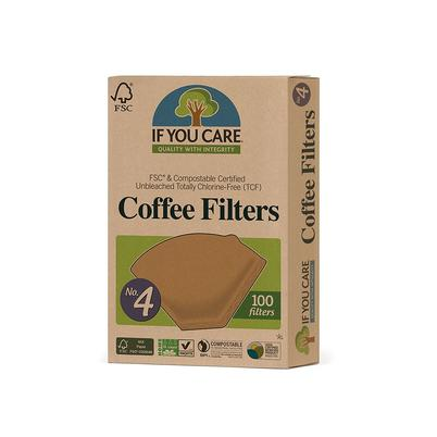 IF YOU CARE No.4 Unbleached Coffee Filters