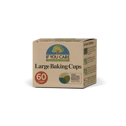 IF YOU CARE 60 Unbleached Chlorine-Free Large Baking Cups