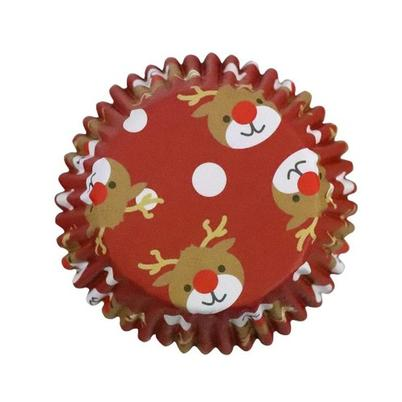 PME 30 Foil Baking Cases Christmas Reindeer